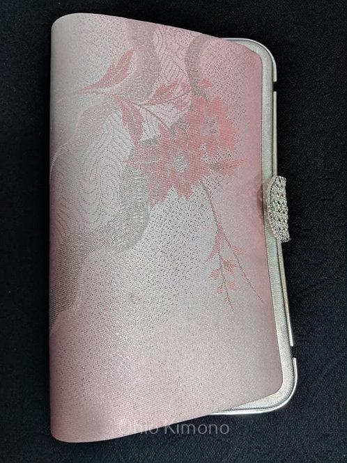 Pink & Silver Kimono Clutch