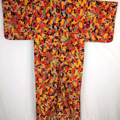 yellow kimono from japan