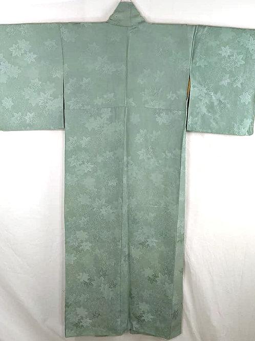 silk iromuji kimono seaform green