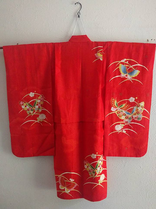 Red Butterfly Child Kimono
