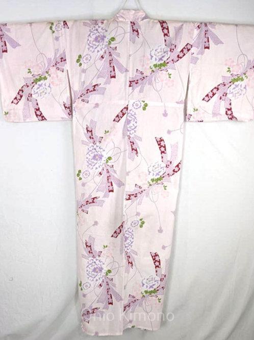 yukata pale pink kawaii