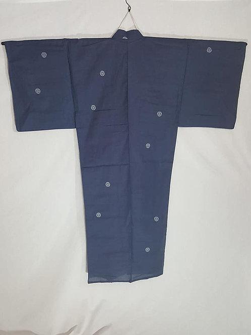 men's blue yukata