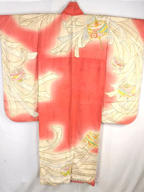pink furisode kimono silk