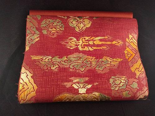 Vintage Abstract Red Nagoya Obi