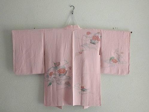 Antique Pink Silk Haori