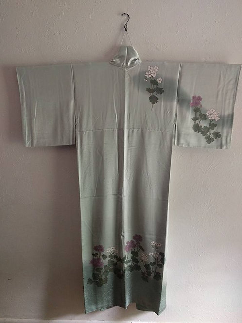 Green Silk Kimono For Sale