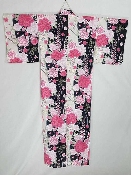 dadb60e34 Black & Pink Yukata