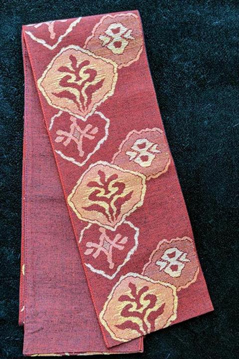 Rustic Red & Autumn Yellow Hanhaba Obi