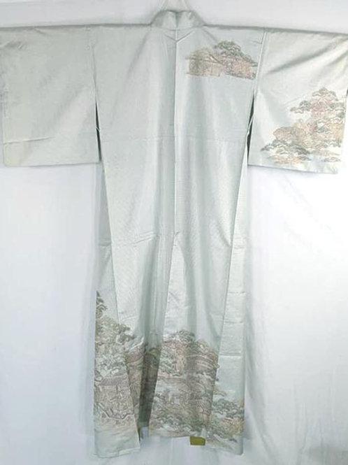 mint green women's kimono houmongi
