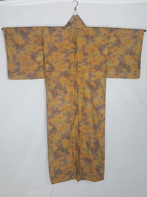 Brown & Green Japanese Kimono