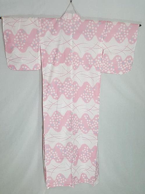 white pink sakura yukata