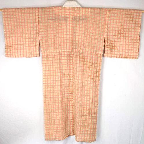 peach cotton juban from japan for japanese kimono