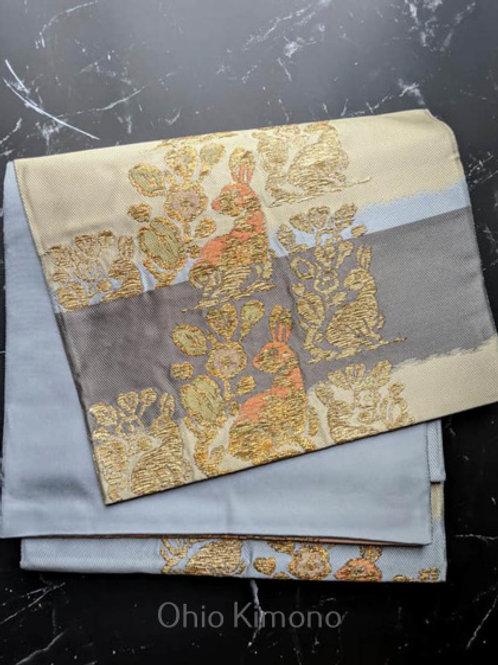 rabbit fukuro obi for kimono