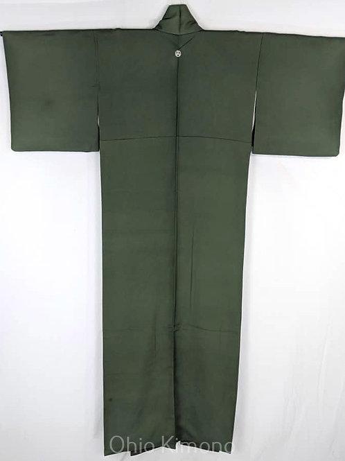 green iromuji kimono