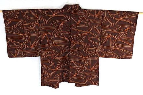 brown vintage haori