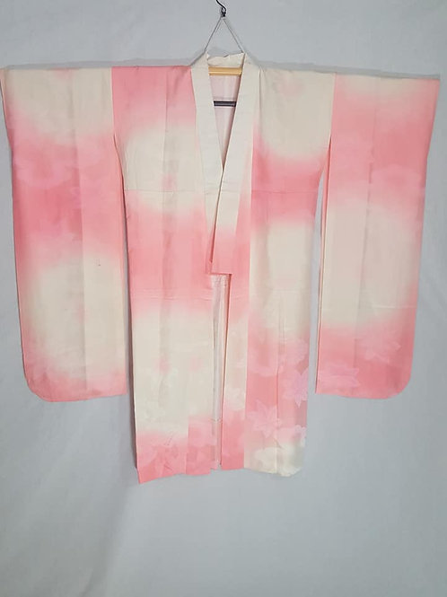 white and pink silk juban for furisode