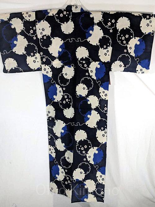black sakura yukata