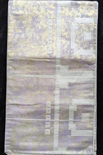 Pale Lavender Purple & White Fukuro Obi