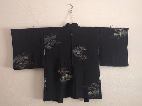 Black Haori Coat For Kimono