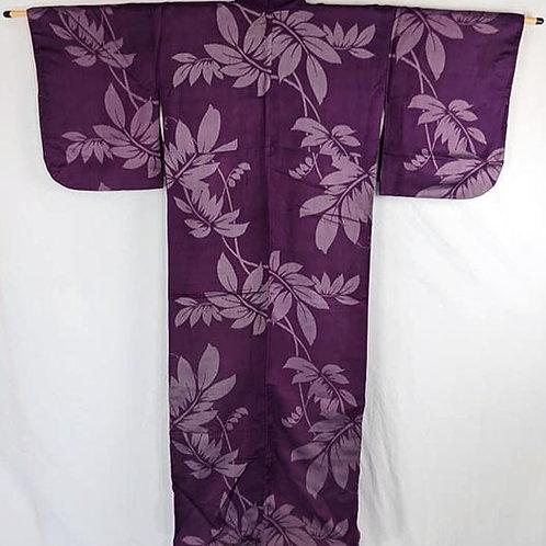 antique purple Japanese kimono