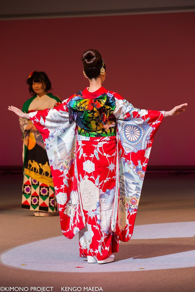 Imagine One World Kimono - Furisode