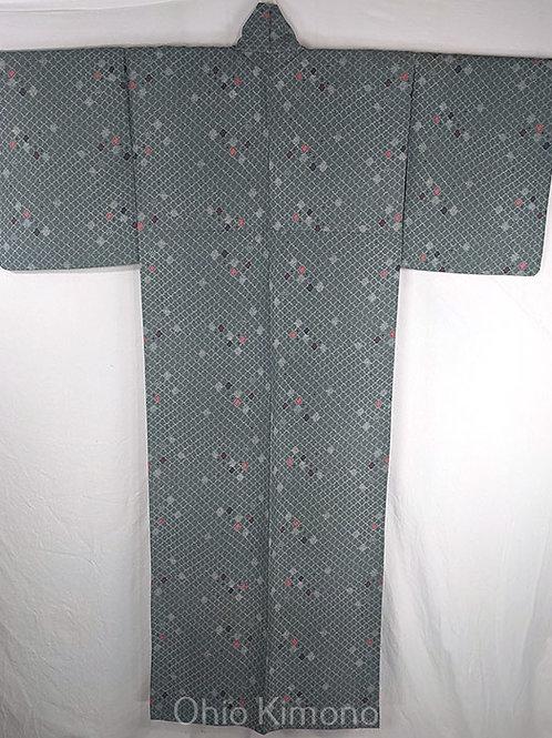 sage japanese kimono
