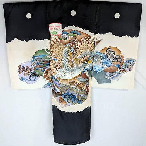 Black & Beige Kimono