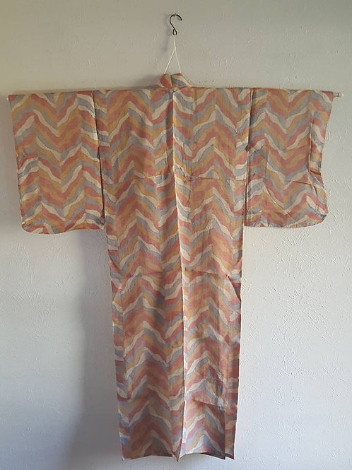 orange and blue Japanese Kimonos