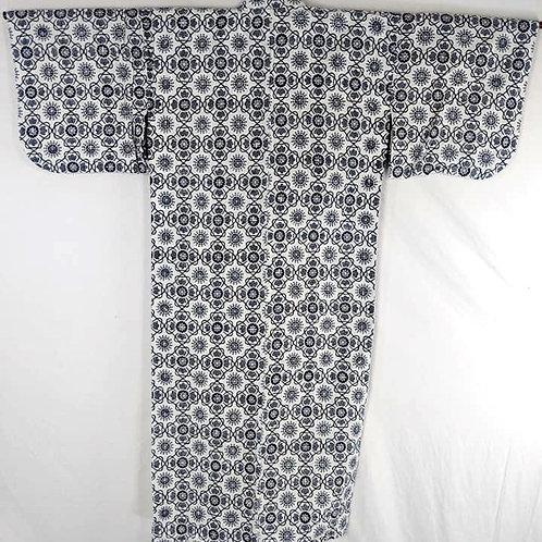 Dark Blue & white Onsen