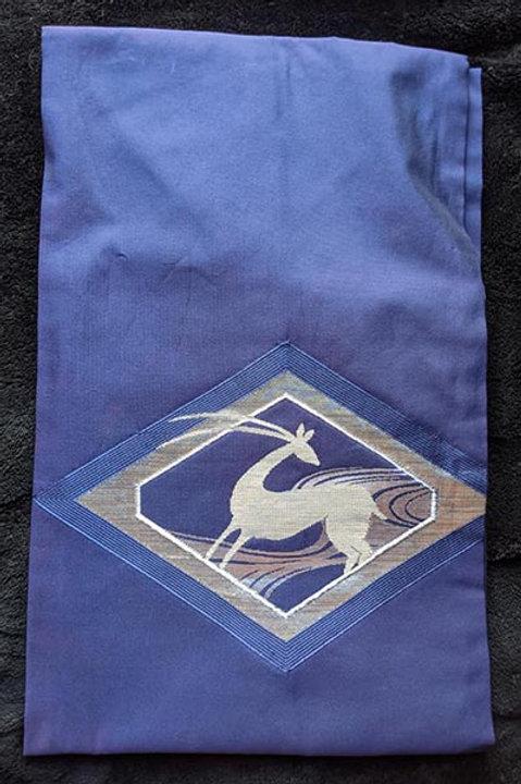 blue and silver nagoya obi for kimono