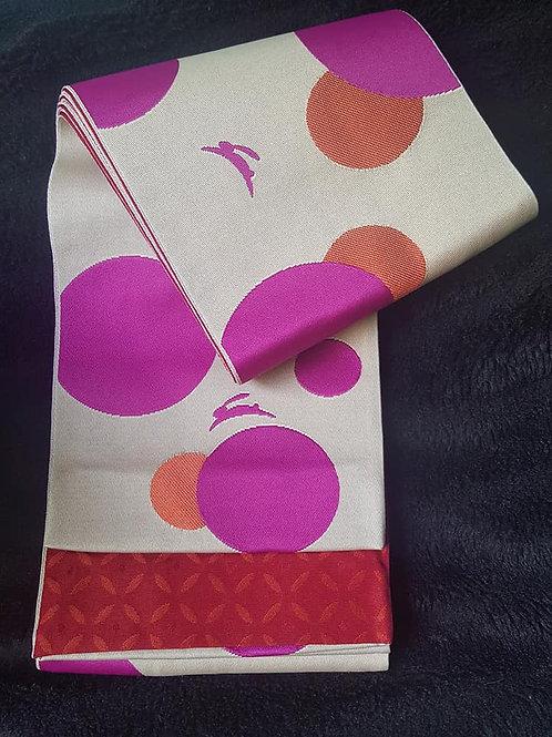 Purple & Orange Hanhaba Obi