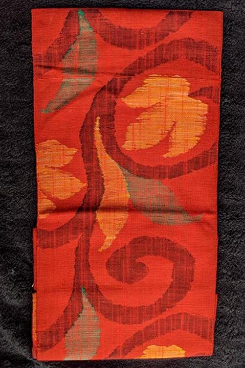 woven nagoya obi orange
