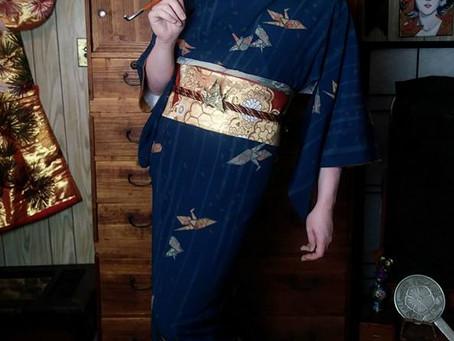Origami Crane Kimono Kitsuke