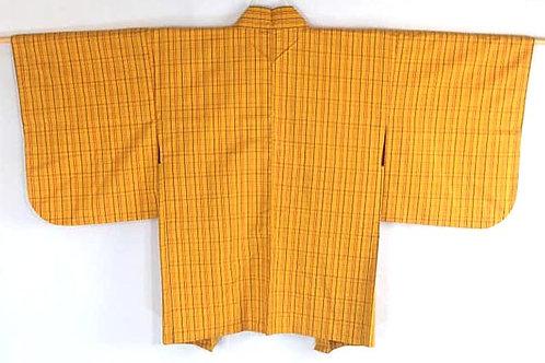 yellow plaid haori