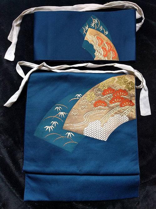 Blue Obi For Kimono