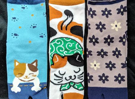 New Tabi Socks - Cat, Bunny, & Floral Designs