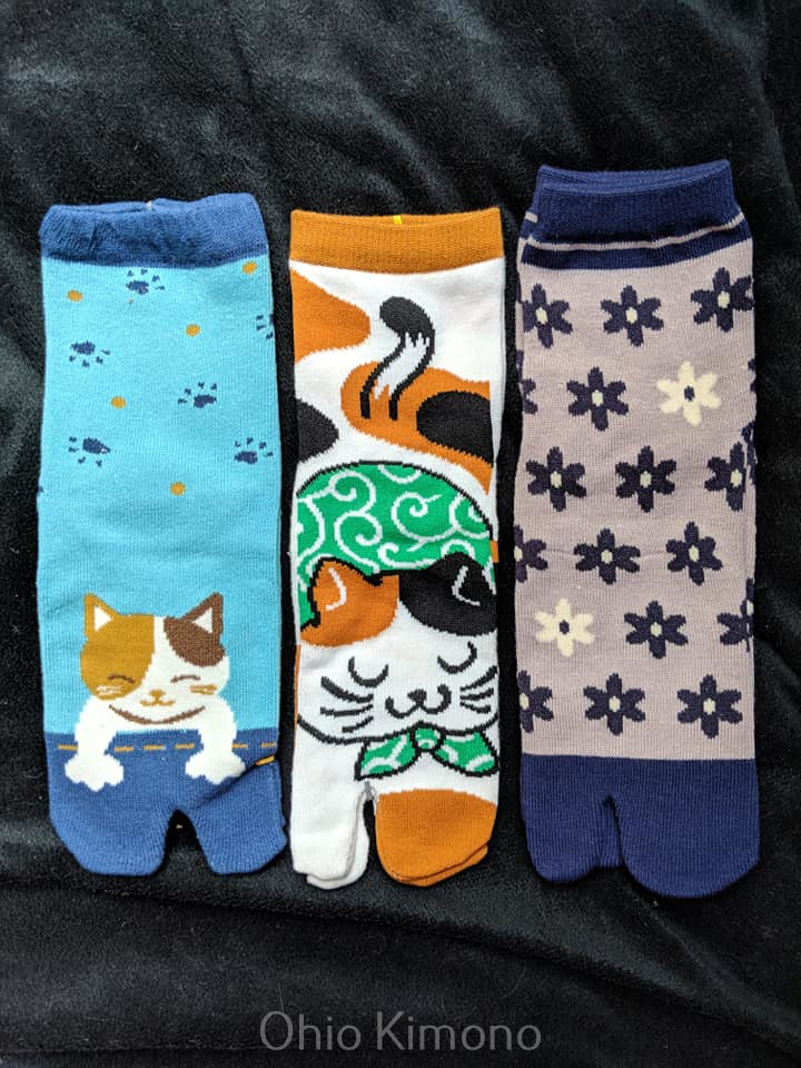 tabi socks for flip flops and japanese kimono