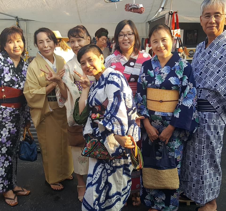 Yukata and Kimono at Ginza Festival