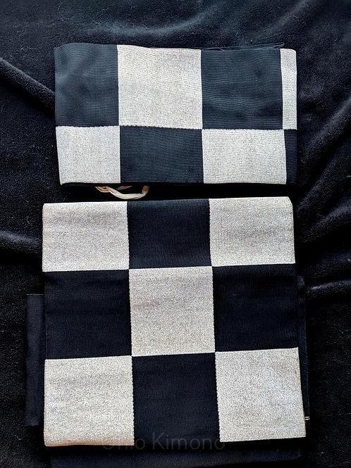 Black & White Tsuke Obi