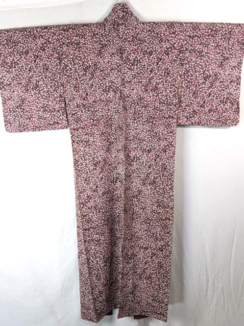 black and mauve traditional kimono from japan