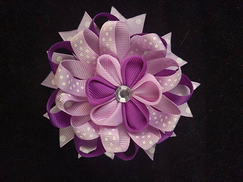 Purple & Pink Ribbon Kanzashi