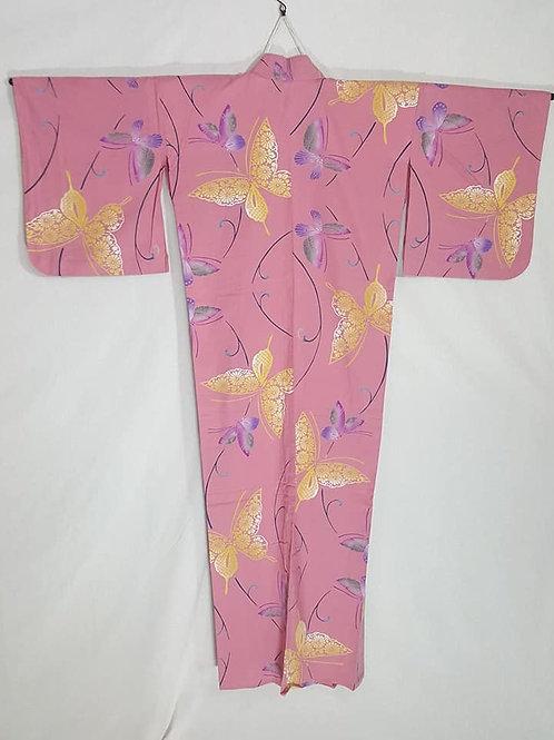 pink butterfly yukata