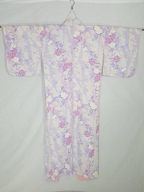 Pale Lavender Japanese Kimono