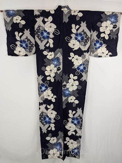 yukata with morning glory flowers