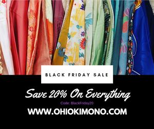 Japanese Kimono Black Friday Sale
