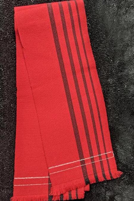 Bold Red & Black Hanhaba Obi