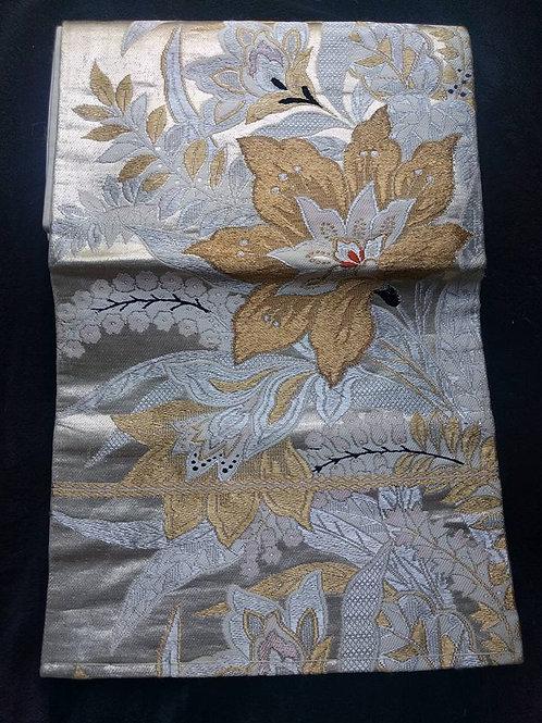 Silver Nagoya Obi