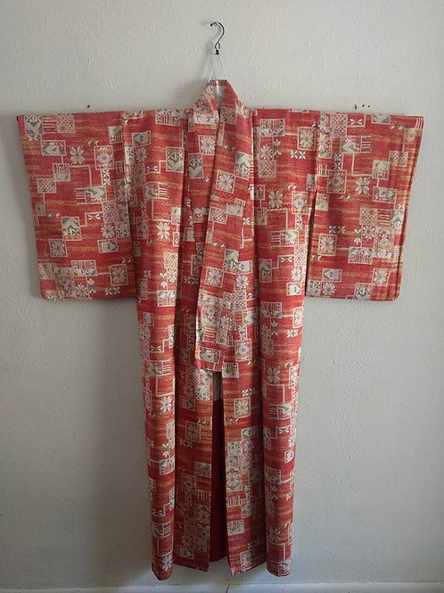 red women's Japanese Kimonos