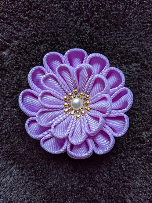 Purple & Gold Kanzashi