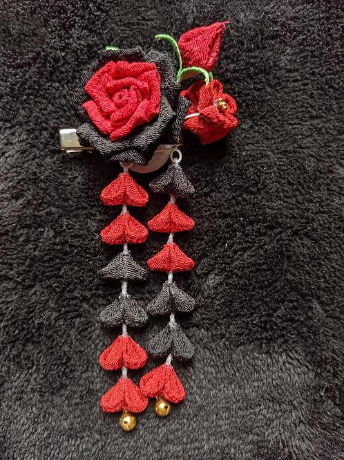 Black & Red Kanzashi